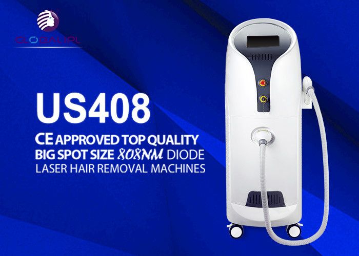 "808nm Diode Laser Hair Removal Machine With 10.4"" Color Touch LCD Screen"