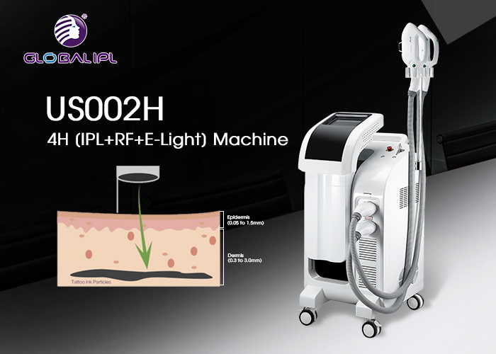 Painless Ipl Nd Yag Shr White Permanent Hair Removal Machine CE / SFDA